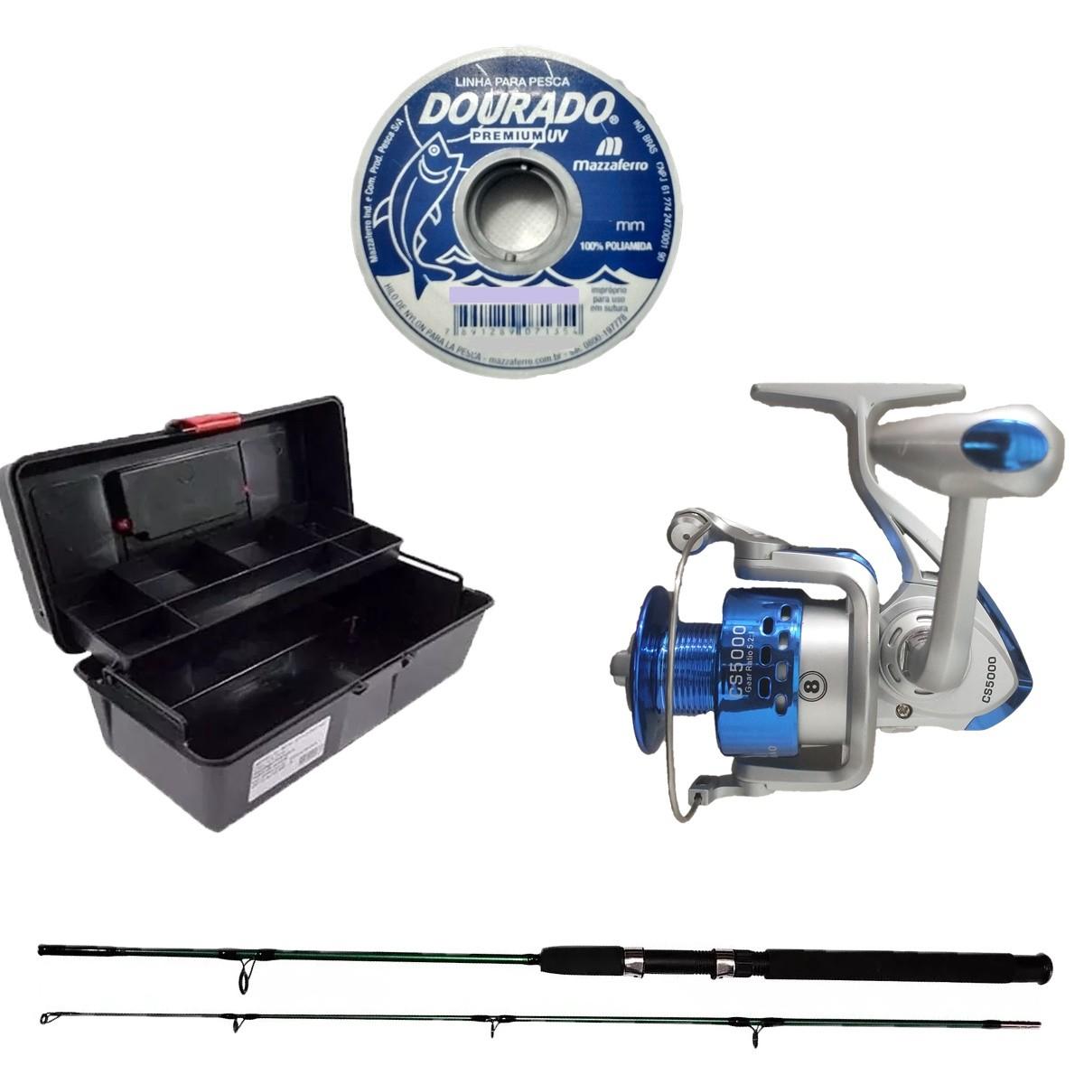 Kit De Pesca Predador Vara 170 Molinete 5000 Alicate Iscas