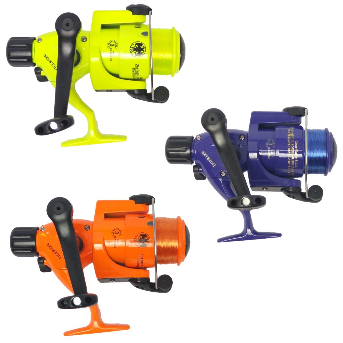 Kit Pesca 2 Vara 1,60 Telescopica 2 Molinete 4000 3 Rol Item