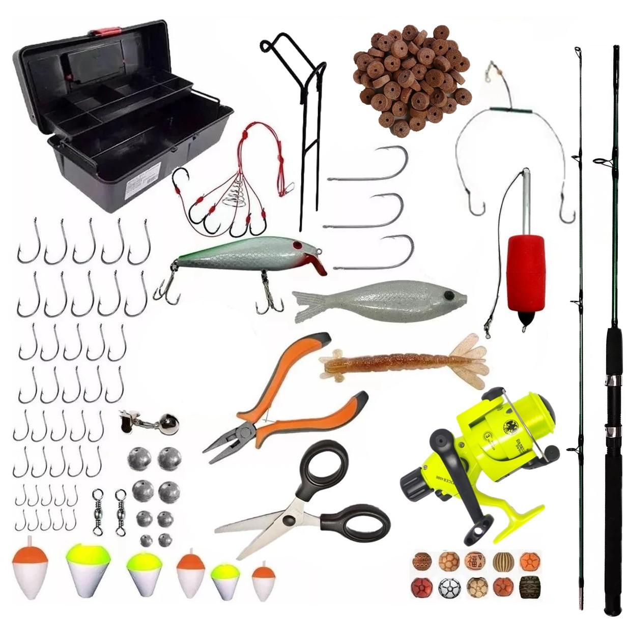 Kit Pesca Completo Vara 1,70 Molinete E Acessórios Pronto