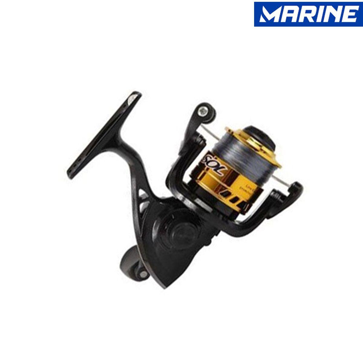 Molinete 200 1 Rolamento Corpo Carretel Grafite Marine Sports
