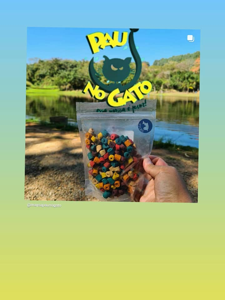 Ração Colorida Miçanguinha Pau No Gato Pesca Tamba Brutos