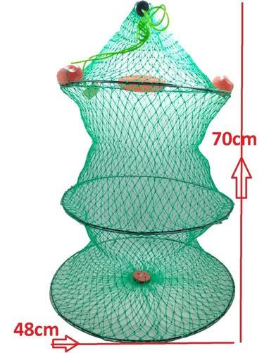 Samburá Flutuante Viveiro Peixe Arame Pesca 70cm Covo Grande