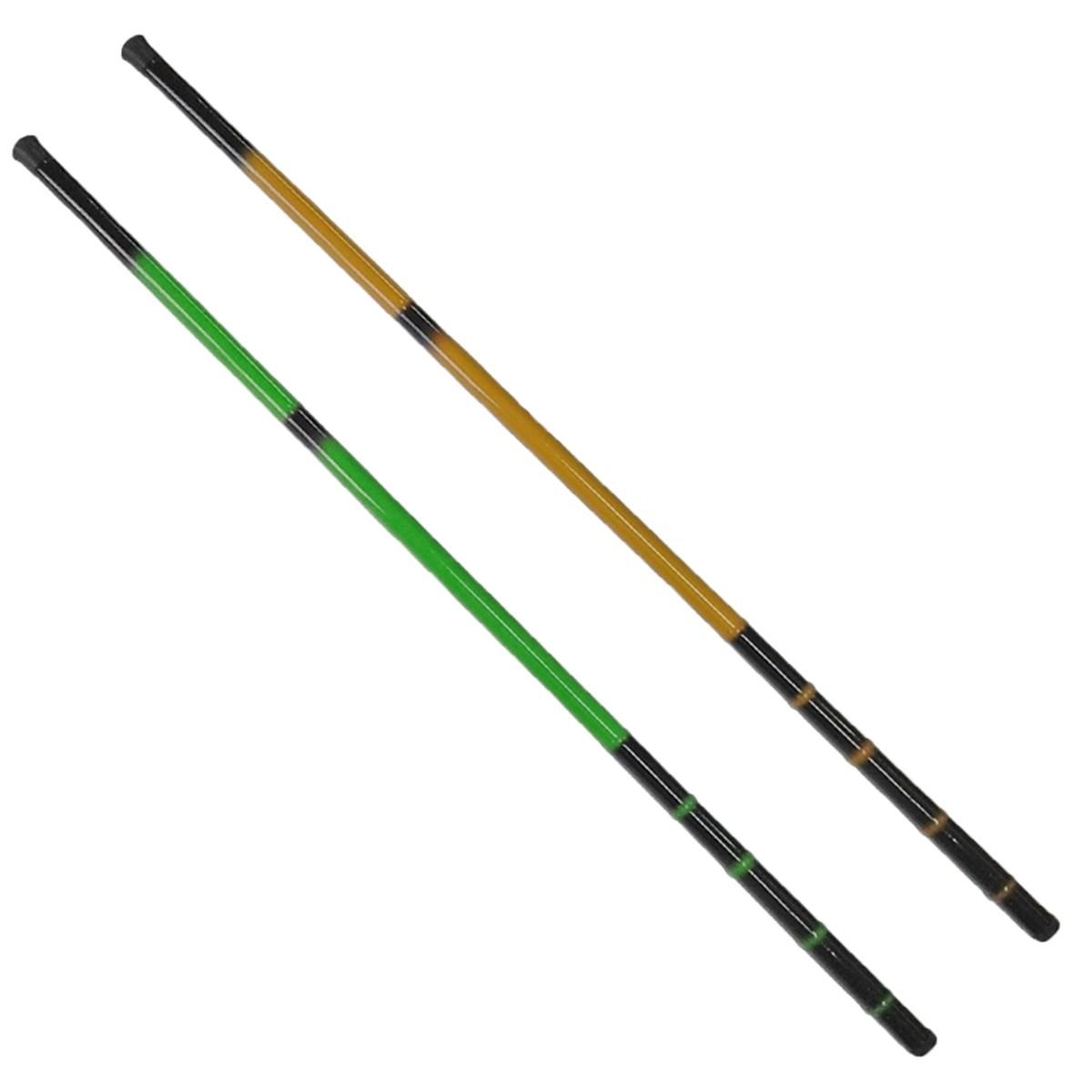 Vara De Mão Telescópica 1 De 2,40m 1 De 2,70m Fibra De Vidro