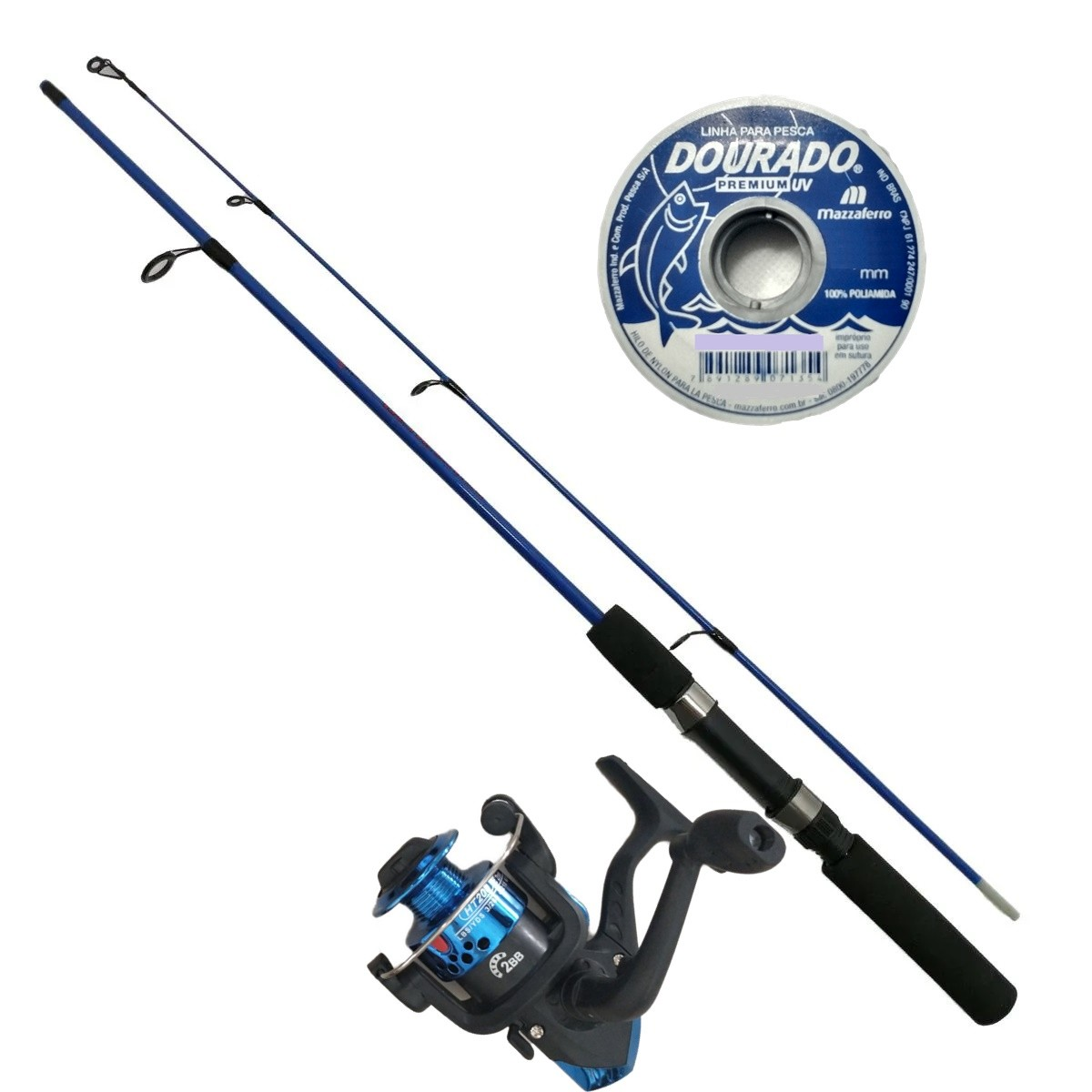 Vara De Pesca Completa 1,20m Com Molinete Linha Barato