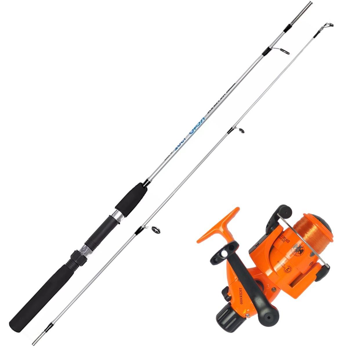 Vara De Pesca Completa 1,50m Molinete 4000 3 Rol 100m Linha