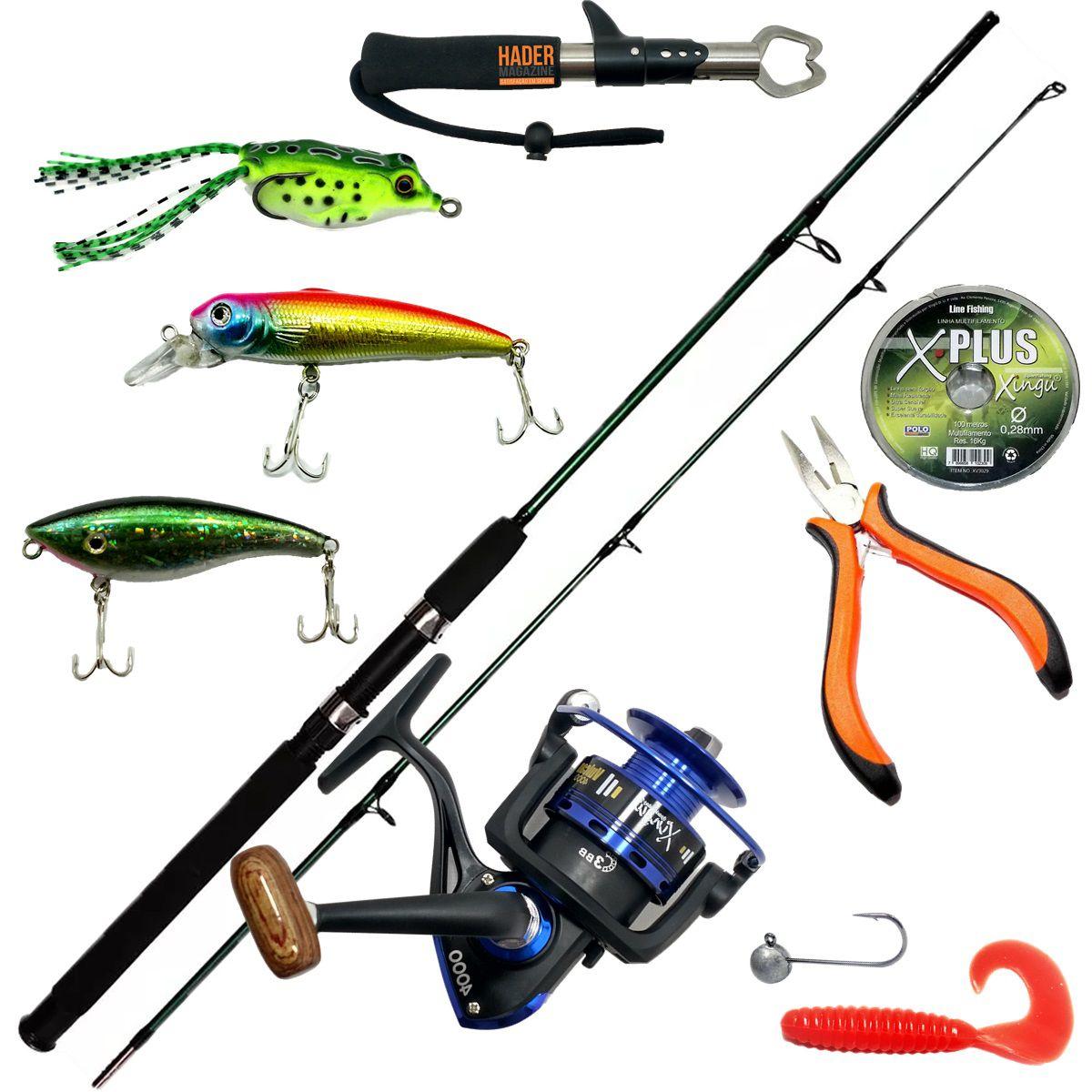 Vara De Pesca Completa 1,70 25-50lb Molinete 4000 Traira