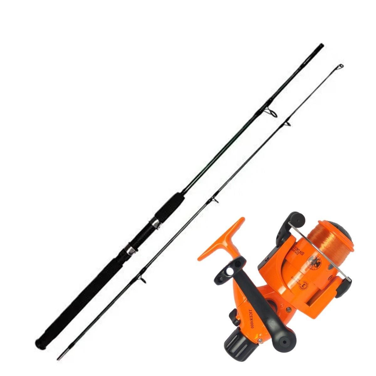 Vara De Pesca Completa 1,70m Com Molinete 4000 3 rol Linha