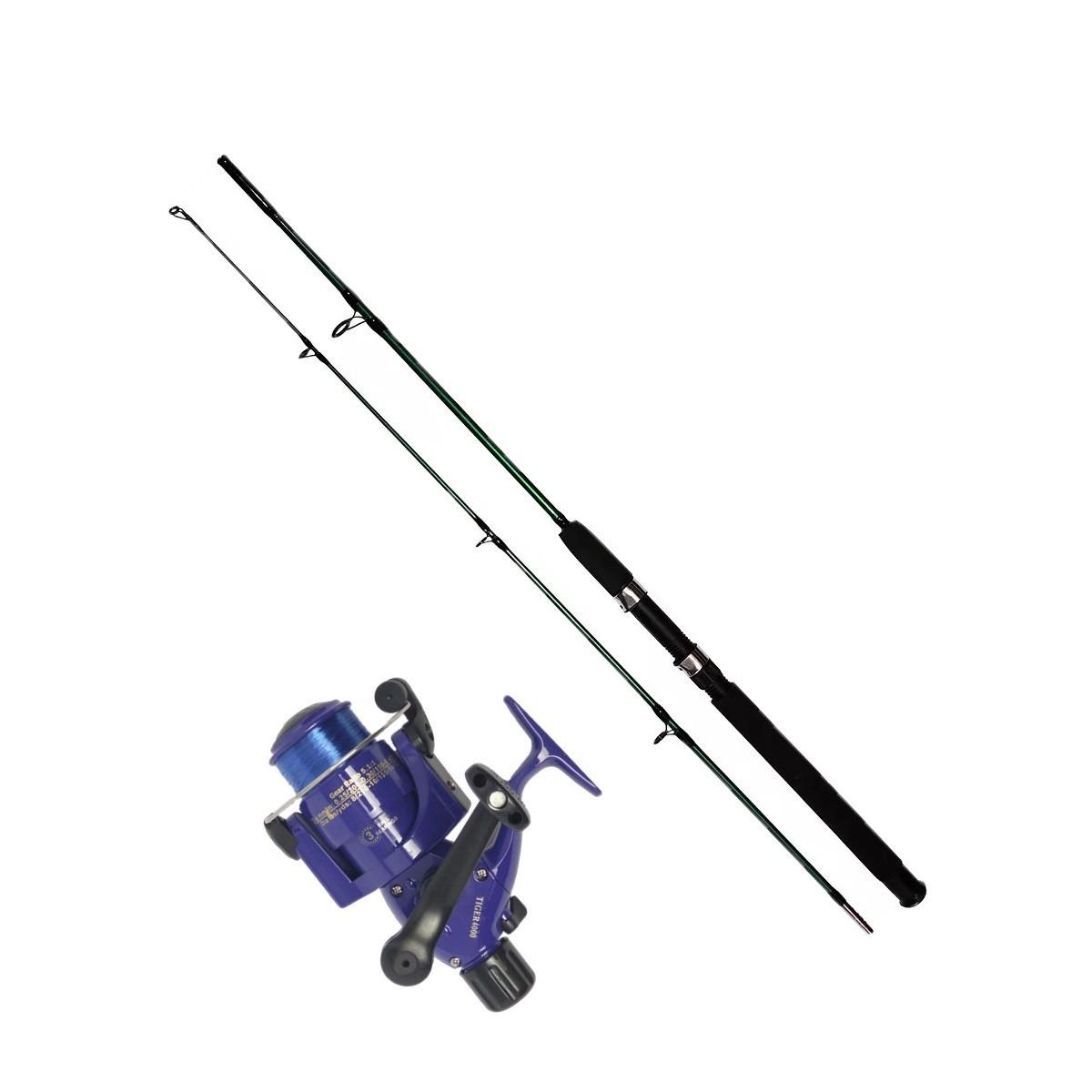 Vara De Pesca Completa 1,70m Molinete 4000 3 Rolamento Linha