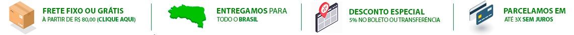 frete fixo, frete grátis, entrega para todo brasil, desconto, parcelamento, sem juros