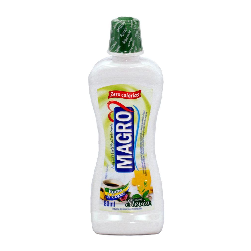 Adoçante Dietetico Magro C/ Stevia Liq 80Ml  - Mundo Cerealista
