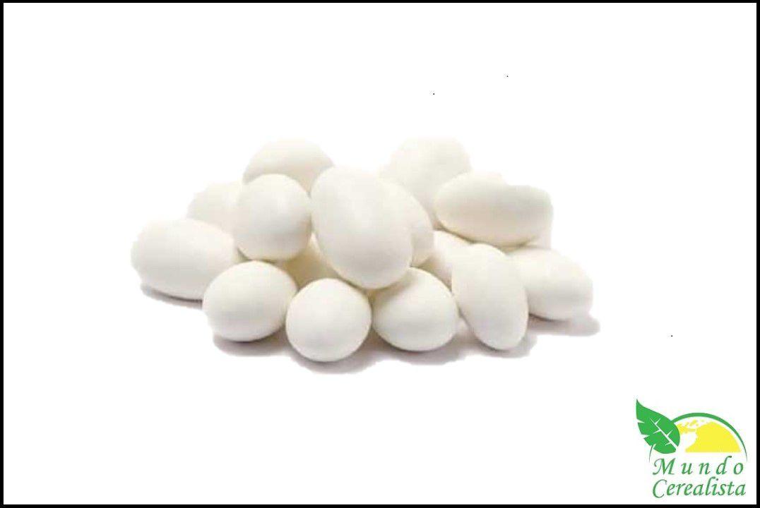 Amêndoa Confeitada Branca - Granel  - Mundo Cerealista