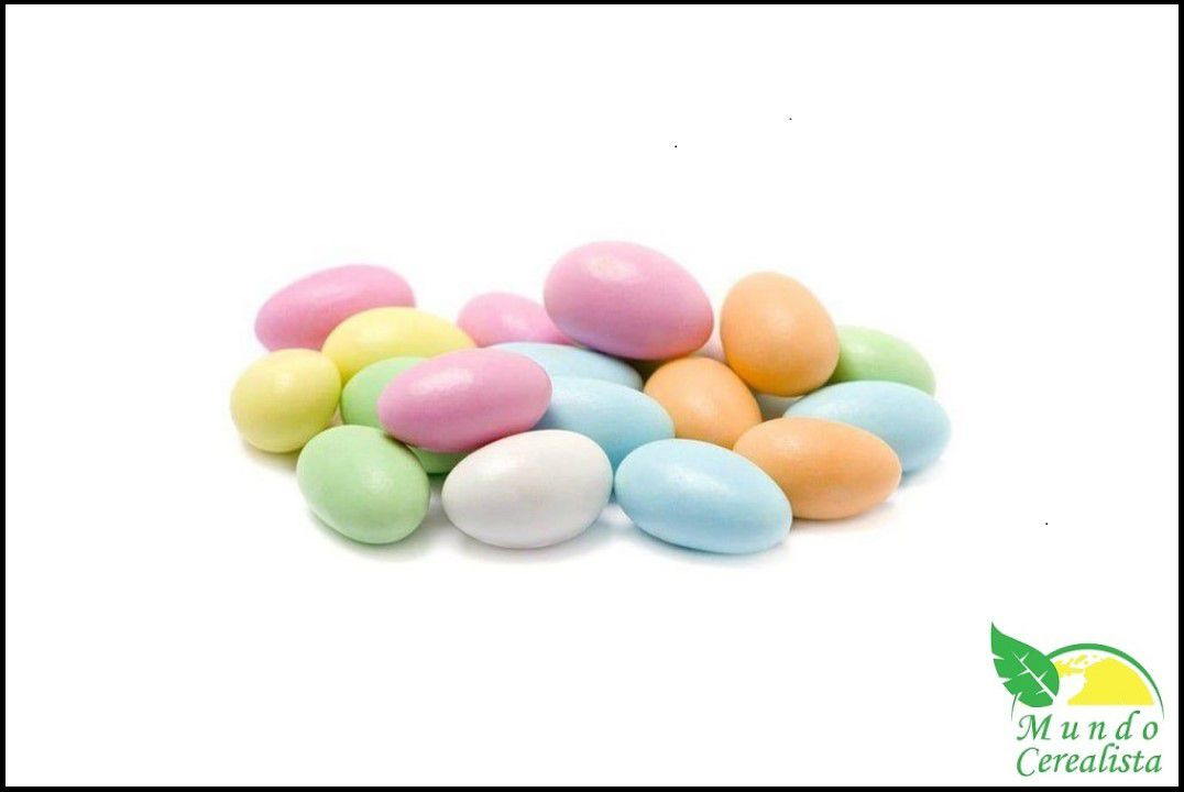 Amêndoa Confeitada Colorida - Granel  - Mundo Cerealista