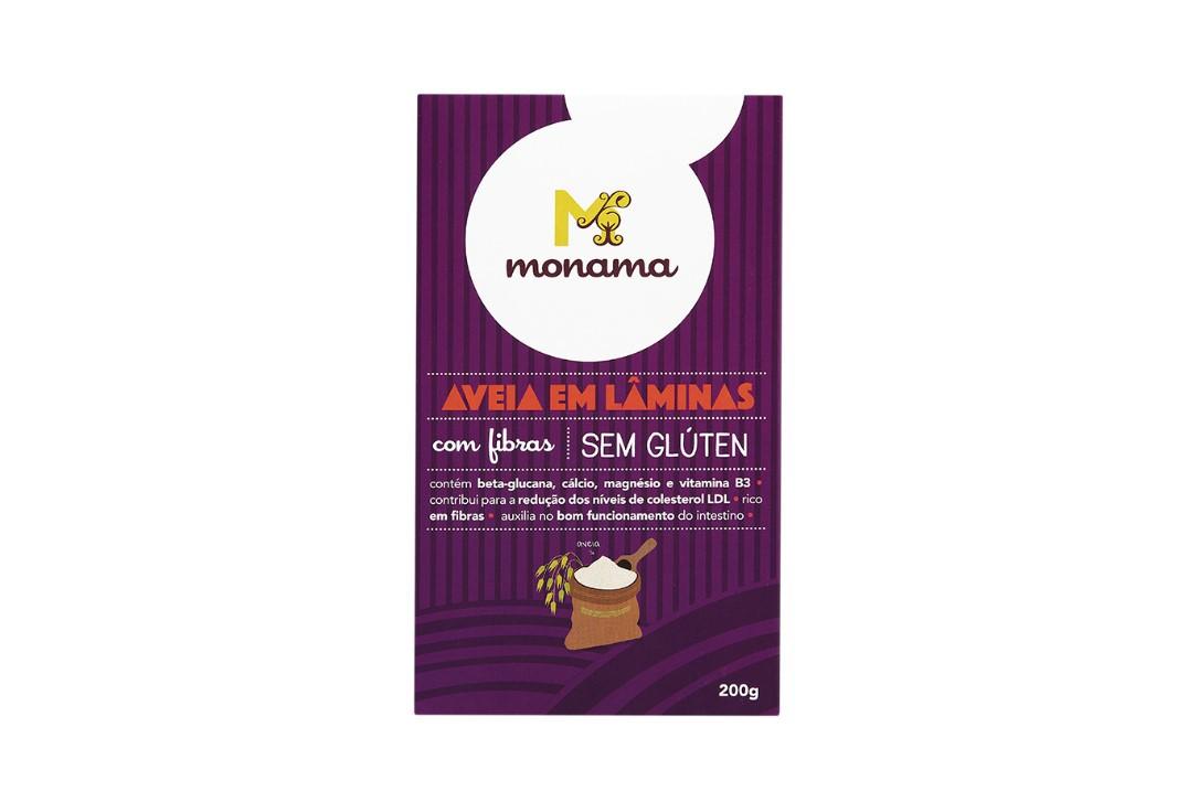 Aveia em Flocos (Lâminas) Sem Glúten 200g - Monama  - Mundo Cerealista