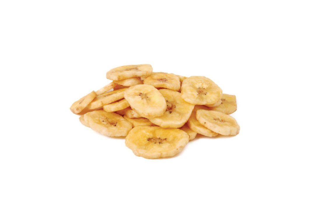 Banana Chips Desidratada Doce (polvilhada com açúcar e canela)  - Mundo Cerealista