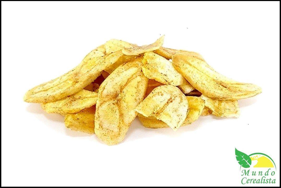 Banana Chips Desidratada Doce (polvilhada com açúcar e canela) - Granel  - Mundo Cerealista