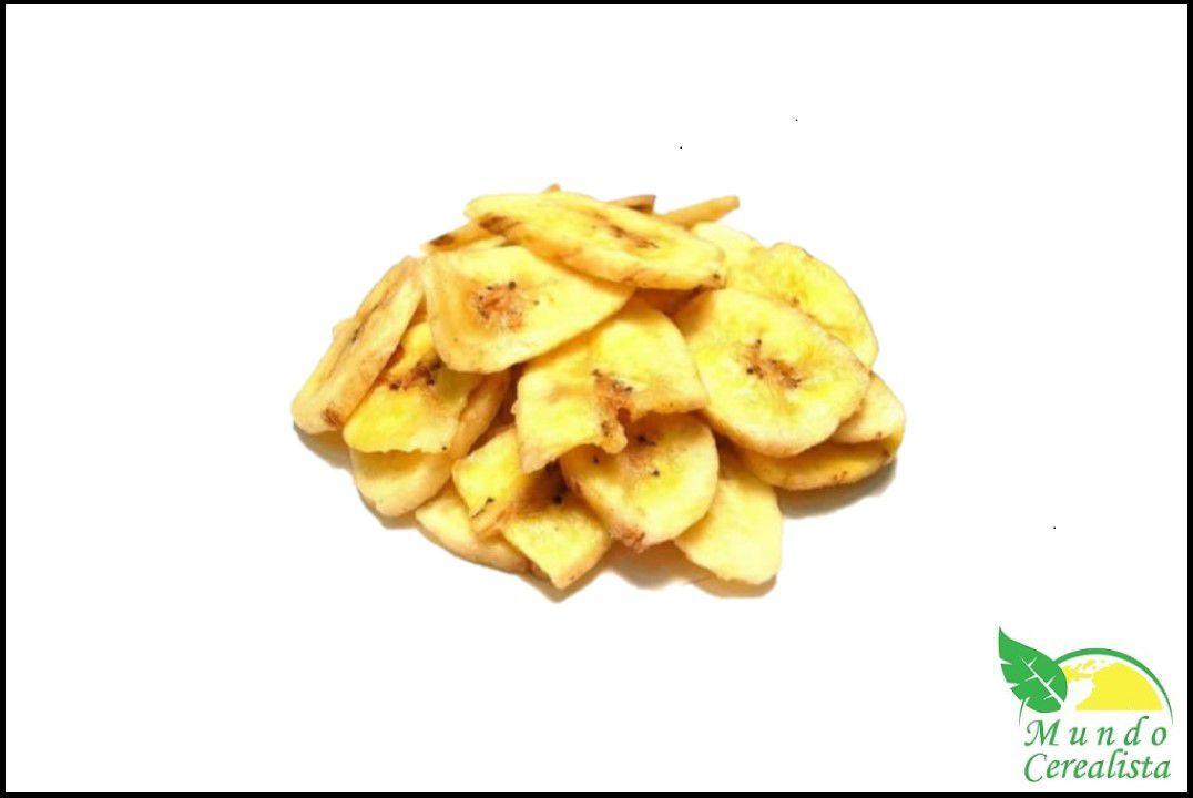Banana Chips Salgada - Granel  - Mundo Cerealista