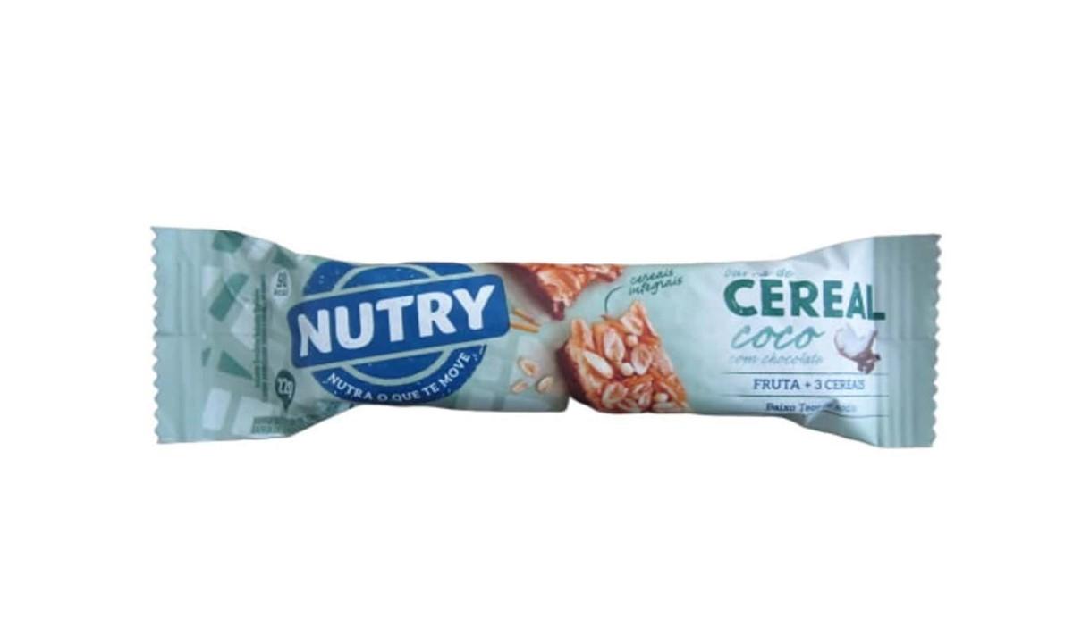 Barra de Cereal - Coco com Chocolate 22gr - NUTRY  - Mundo Cerealista