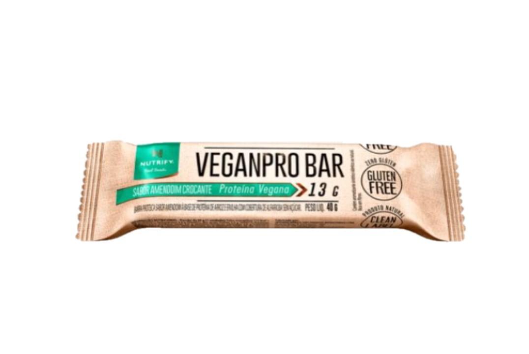 Barra Proteica Vegana Veganpro Bar Amendoim Crocante 40 g - Nutrify - 1 unidade  - Mundo Cerealista