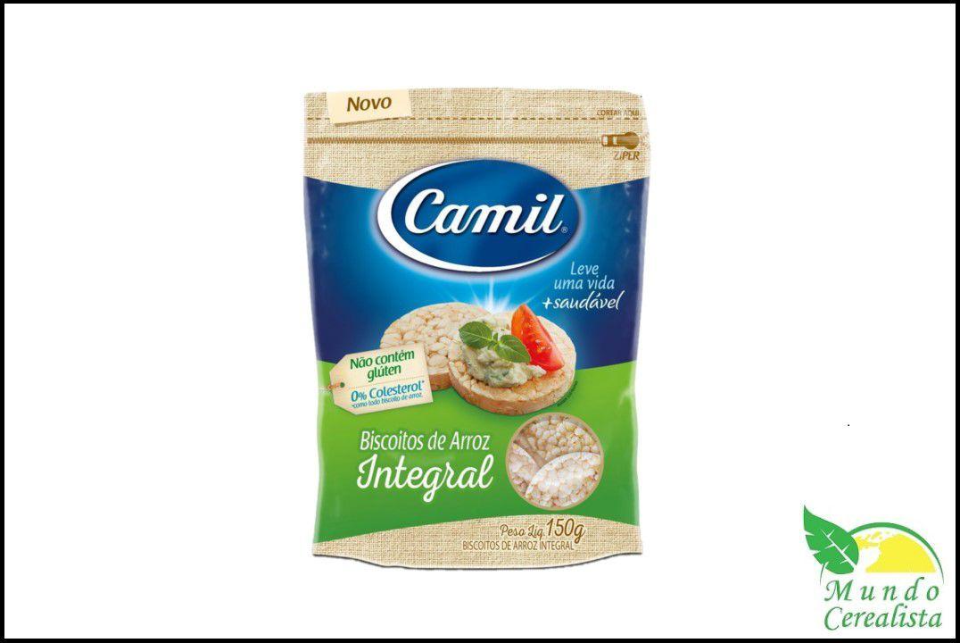 Biscoito de Arroz Integral Camil - 150 Gr  - Mundo Cerealista