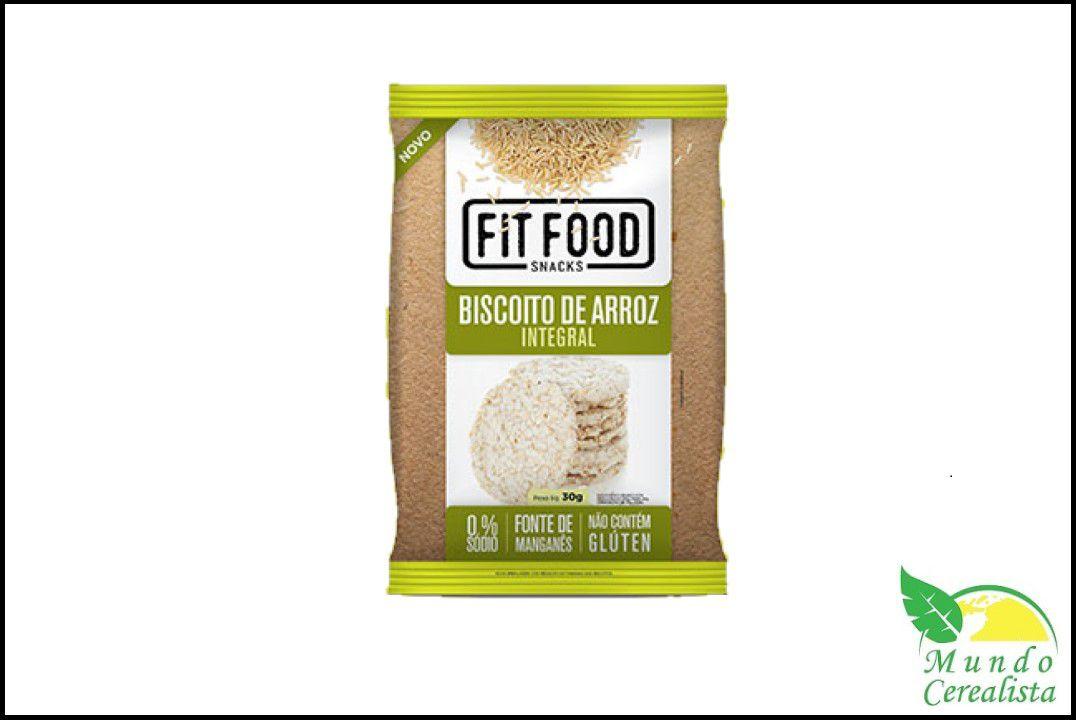 Biscoito De Arroz Natural 30 Gr Fit Food  - Mundo Cerealista