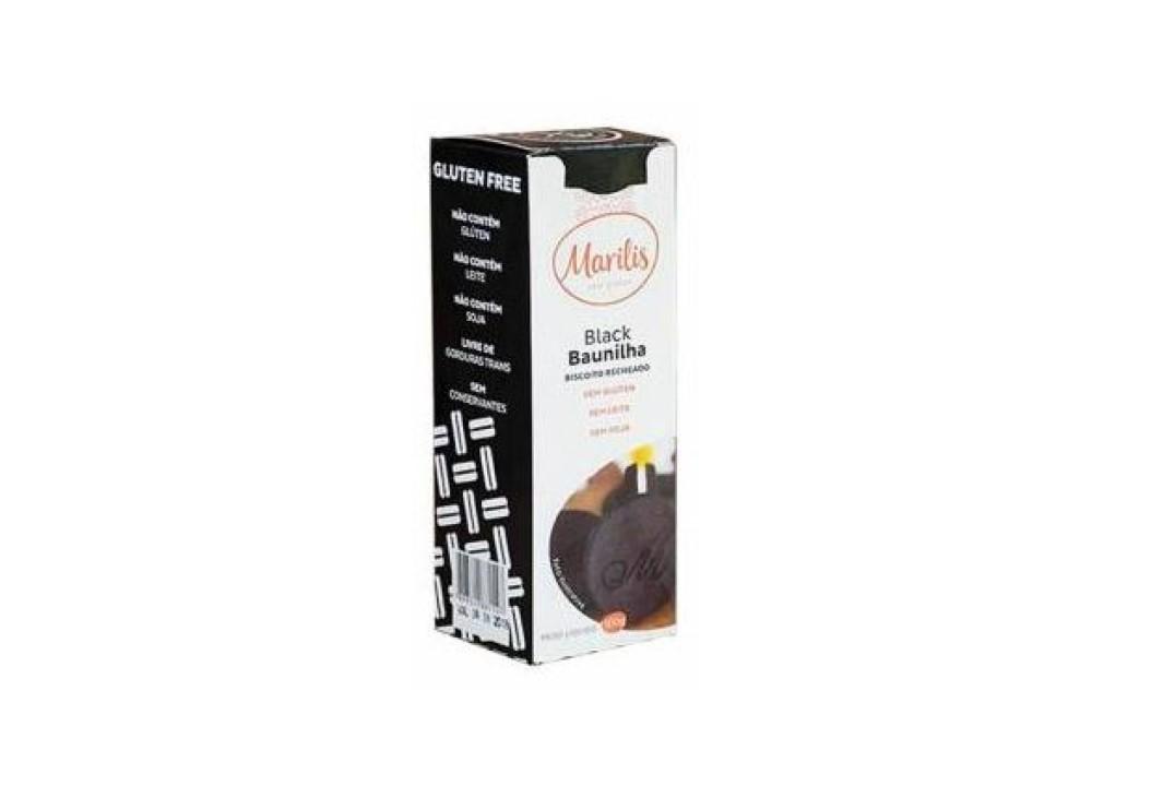 Biscoito Recheado Black Baunilha Sem Glúten 100 Gr - Marilis  - Mundo Cerealista
