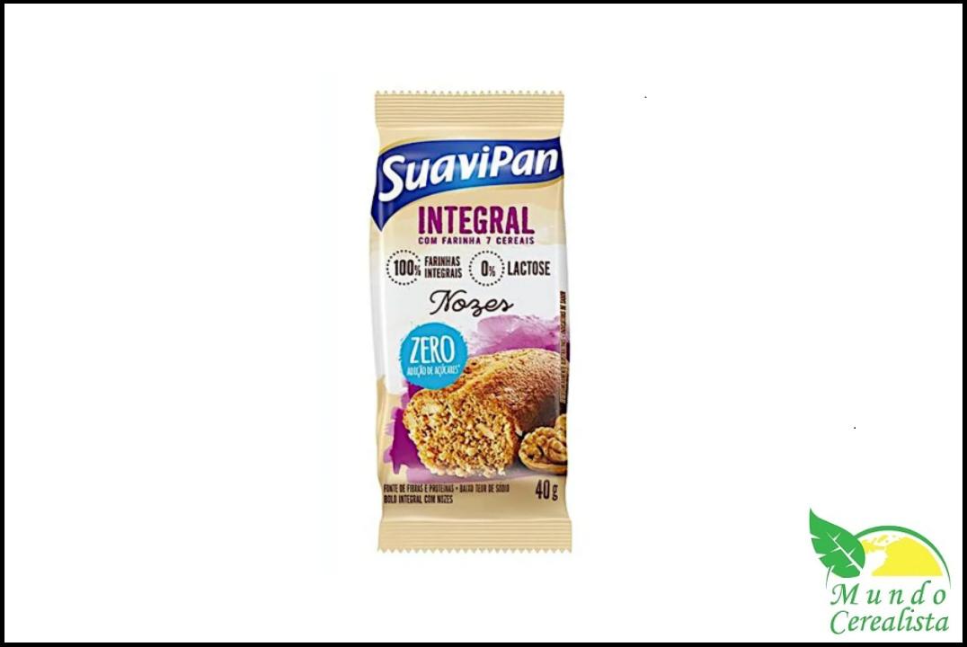 Bolinho de Nozes Zero Açúcar - 40G Suavipan  - Mundo Cerealista