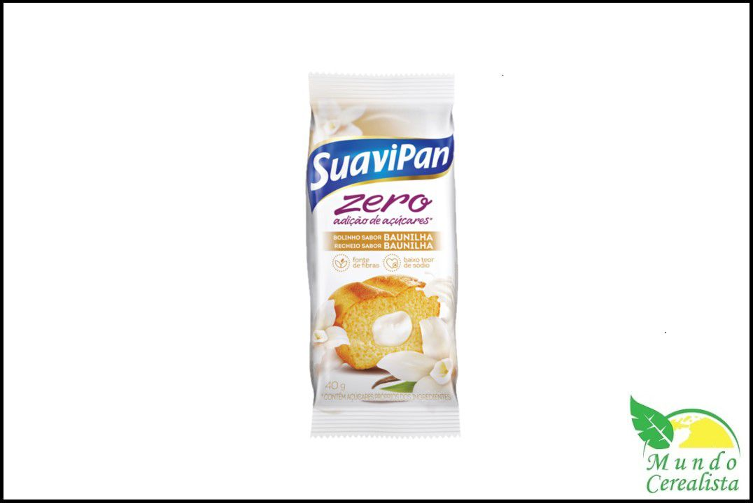 Bolinho Zero Açúcar Baunilha 40G - Suavipan  - Mundo Cerealista