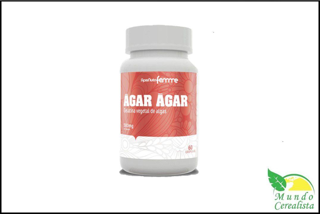 Cápsula Agar Agar 60 Caps 500 Mg Apisnutri  - Mundo Cerealista