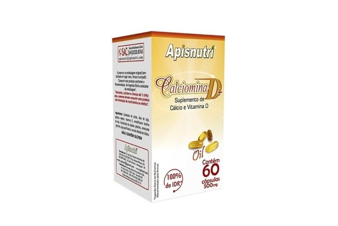 Cápsulas Calciomina D ( Calcio + Vit. D ) 60 Caps 500Mg Apisnutri Un  - Mundo Cerealista