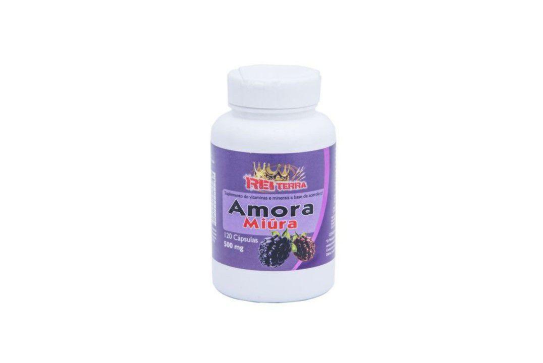 Cápsulas de Amora 120 Caps. 500 Mg - Rei Terra  - Mundo Cerealista