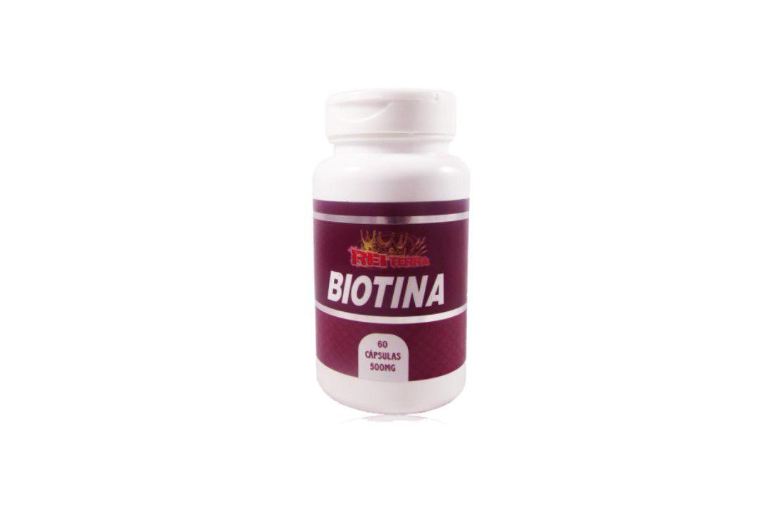Cápsulas de Biotina 60 Caps 500Mg - Rei Terra  - Mundo Cerealista