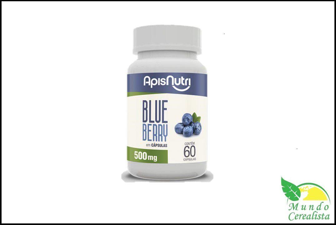 Cápsulas de Blueberry 60 Caps 500Mg Apisnutri  - Mundo Cerealista