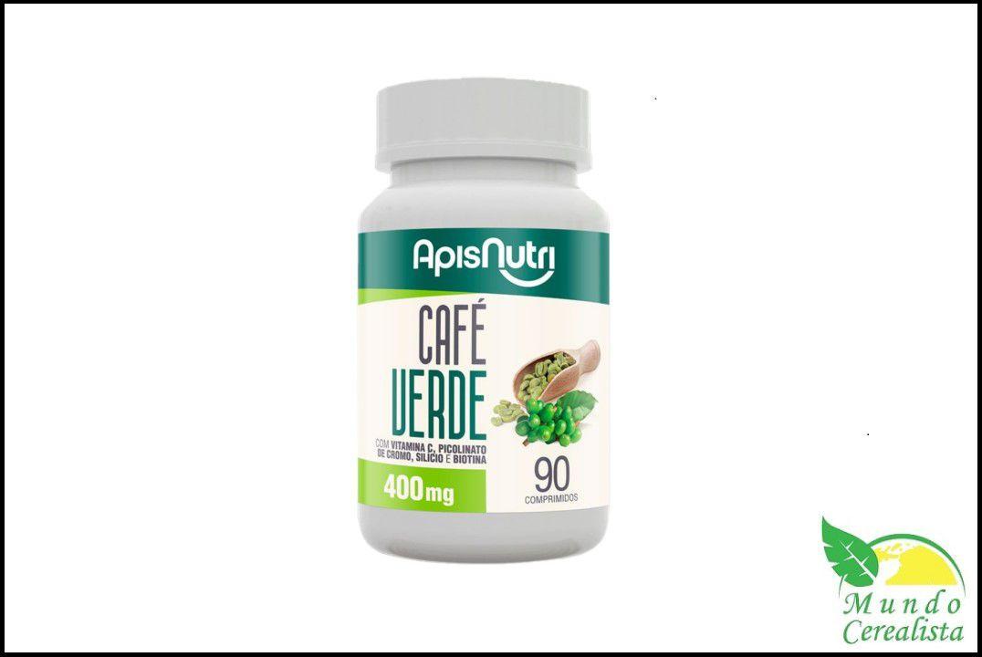 Cápsulas de Cafe Verde 90 Caps 400Mg - Apisnutri  - Mundo Cerealista