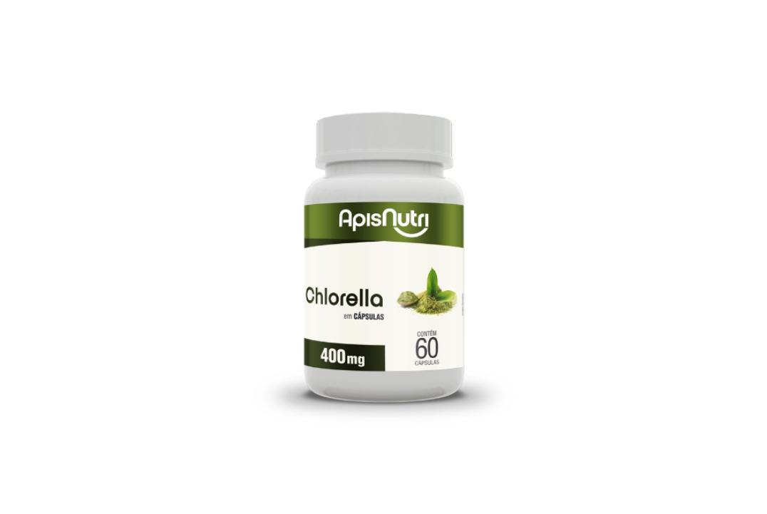 Cápsulas de Chlorella 400Mg 60Caps Apisnutri  - Mundo Cerealista