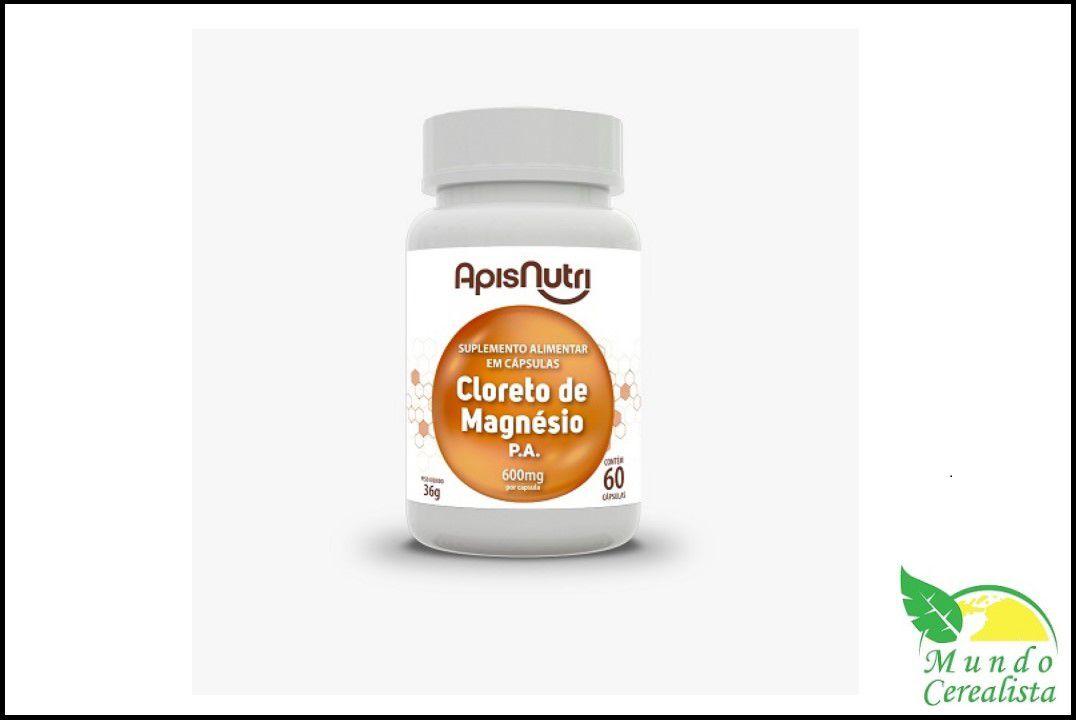 Cápsulas de Cloreto De Magnesio P.A 600Mg 60 Caps Apisnutri  - Mundo Cerealista