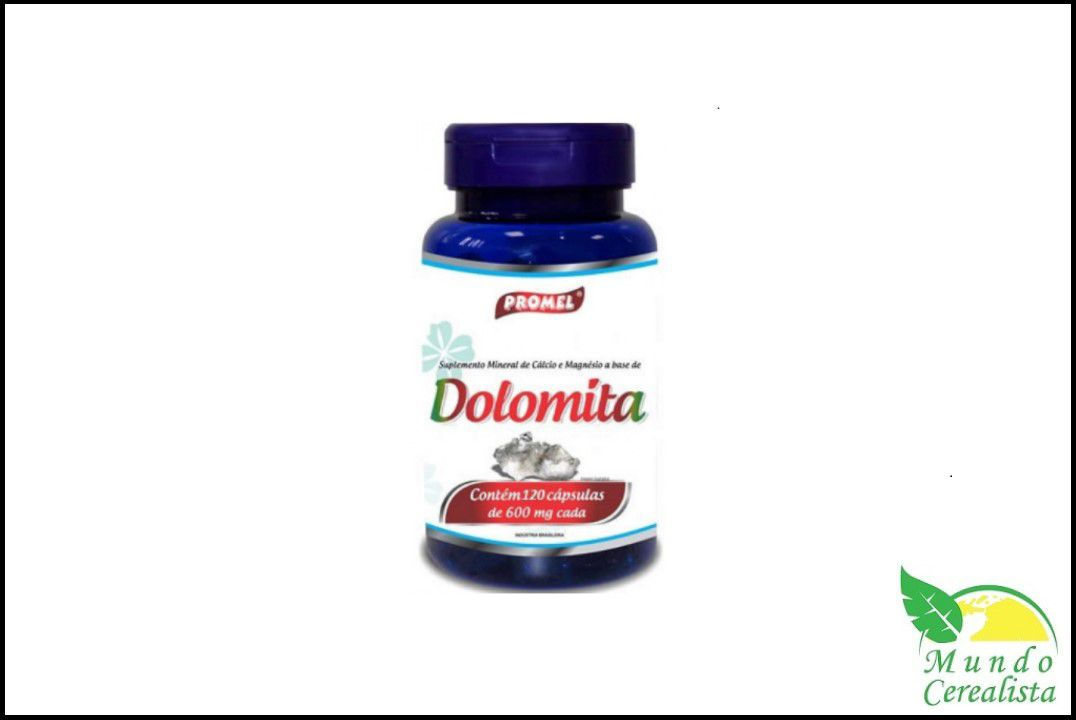 Cápsulas de Dolomita Promel - 120 Caps - 600 Mg  - Mundo Cerealista