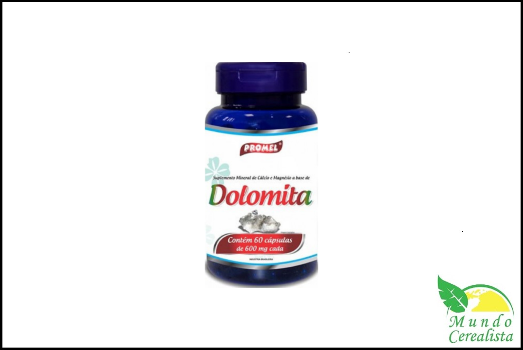 Cápsulas de Dolomita Promel - 60 Caps - 600 Mg  - Mundo Cerealista