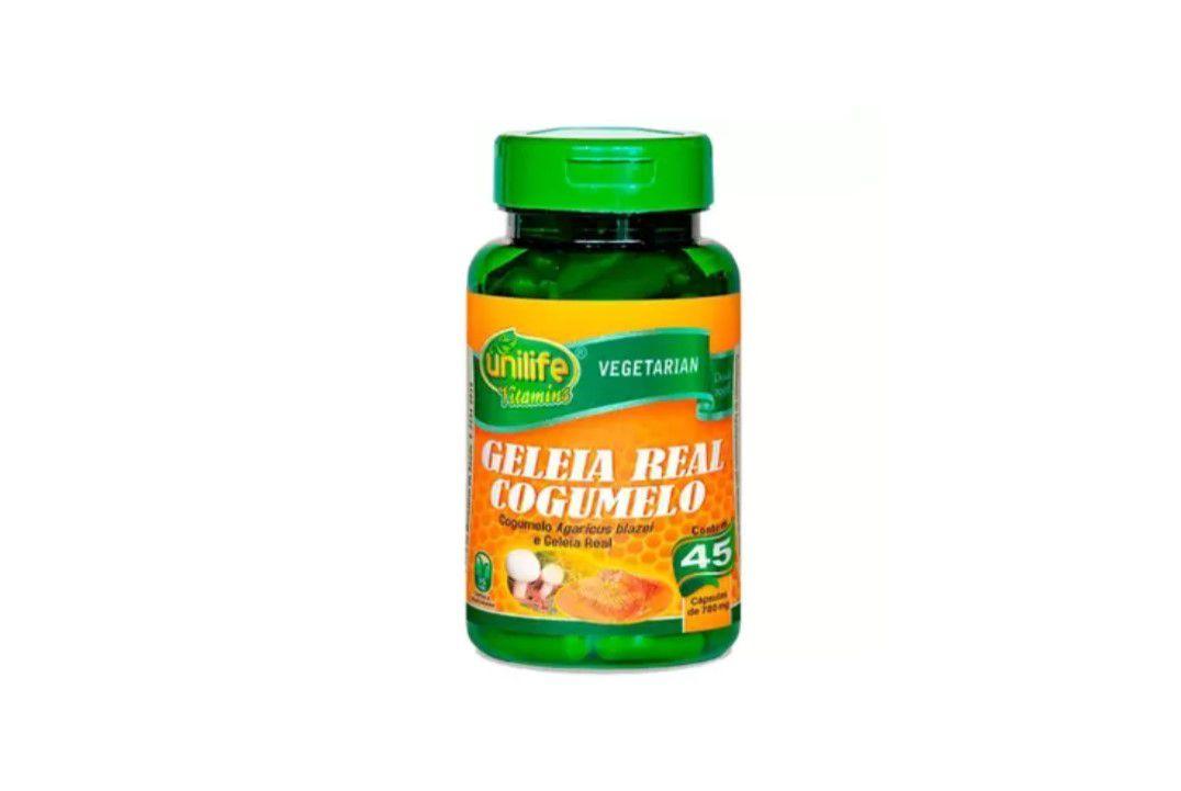 Cápsulas de Geléia Real Lifolizada + Cogumelo 780 Mg - 45 Cáps - Unilife  - Mundo Cerealista