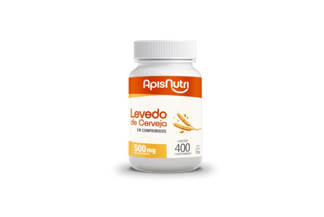 Cápsulas de Levedo De Cerveja 400 Comprimidos 500Mg Apisnutri  - Mundo Cerealista
