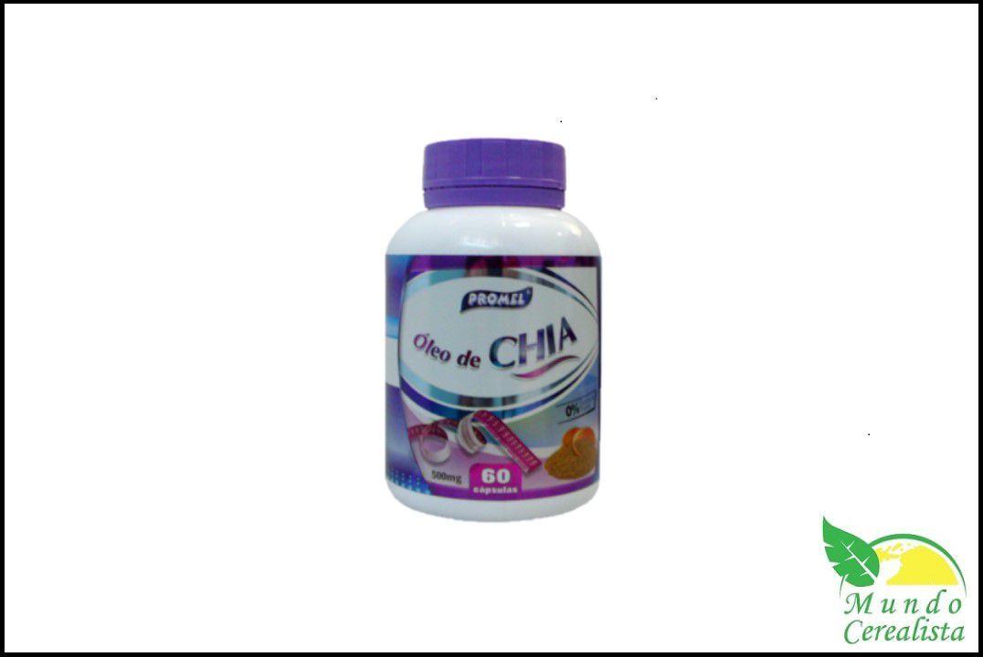 Cápsulas de Óleo de Chia Promel - 60 Caps - 500 Mg  - Mundo Cerealista