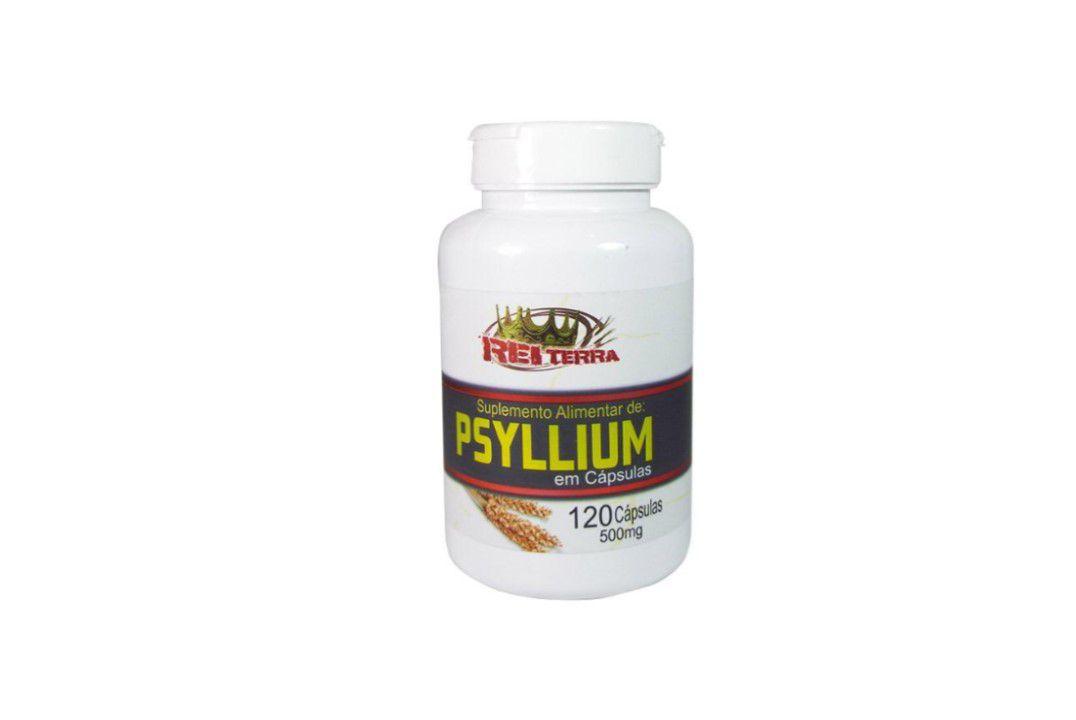 Cápsulas de Psyllium 120 Caps 500 Mg - Rei Terra  - Mundo Cerealista