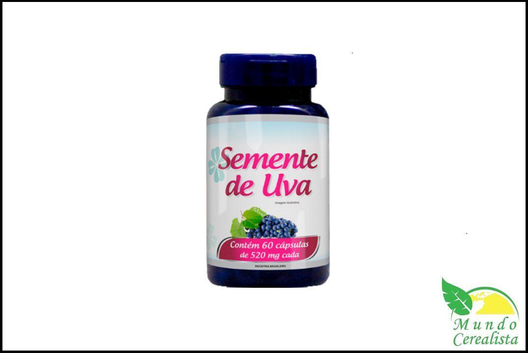 Cápsulas de Semente de Uva Promel - 60 Caps - 520 Mg  - Mundo Cerealista