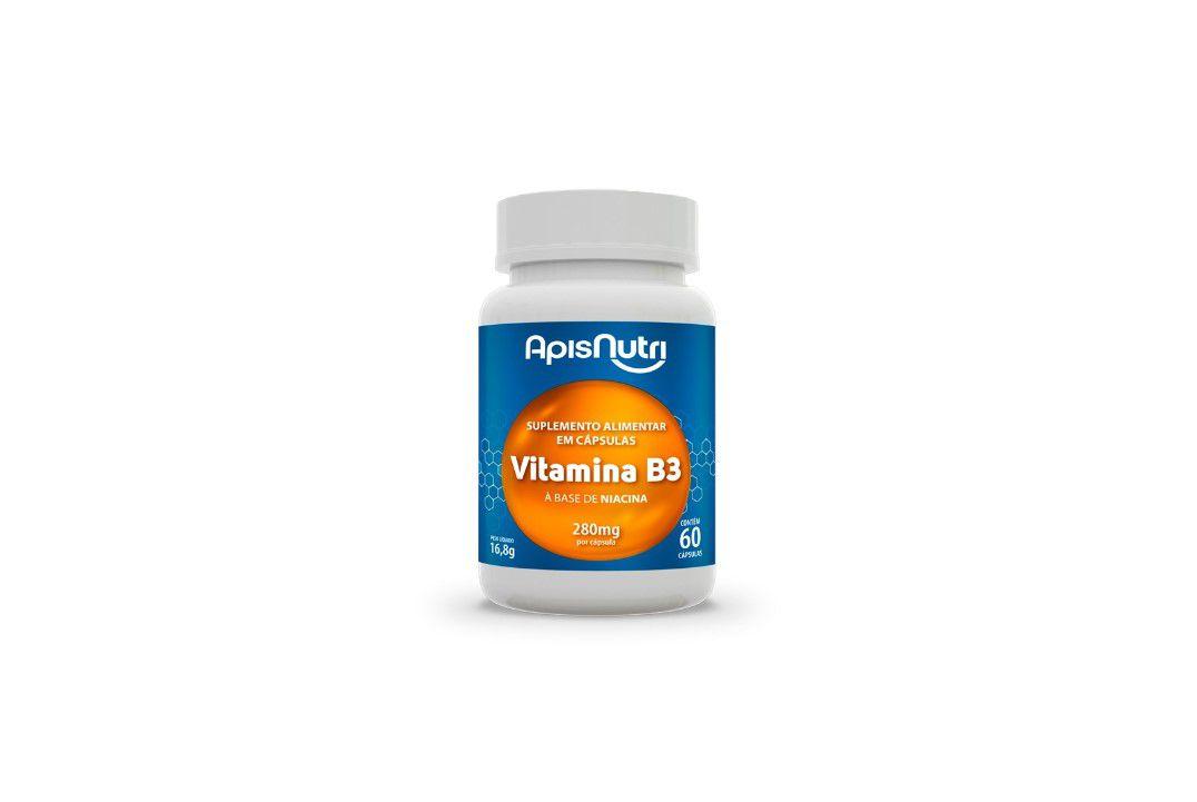 Cápsulas Suplemento De Vitamina B12 60 Caps 280Mg Apisnutri  - Mundo Cerealista