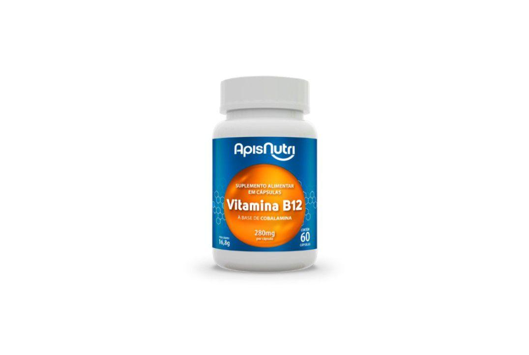 Cápsulas Suplemento De Vitamina B5 280Mg 60 Caps Apisnutri  - Mundo Cerealista