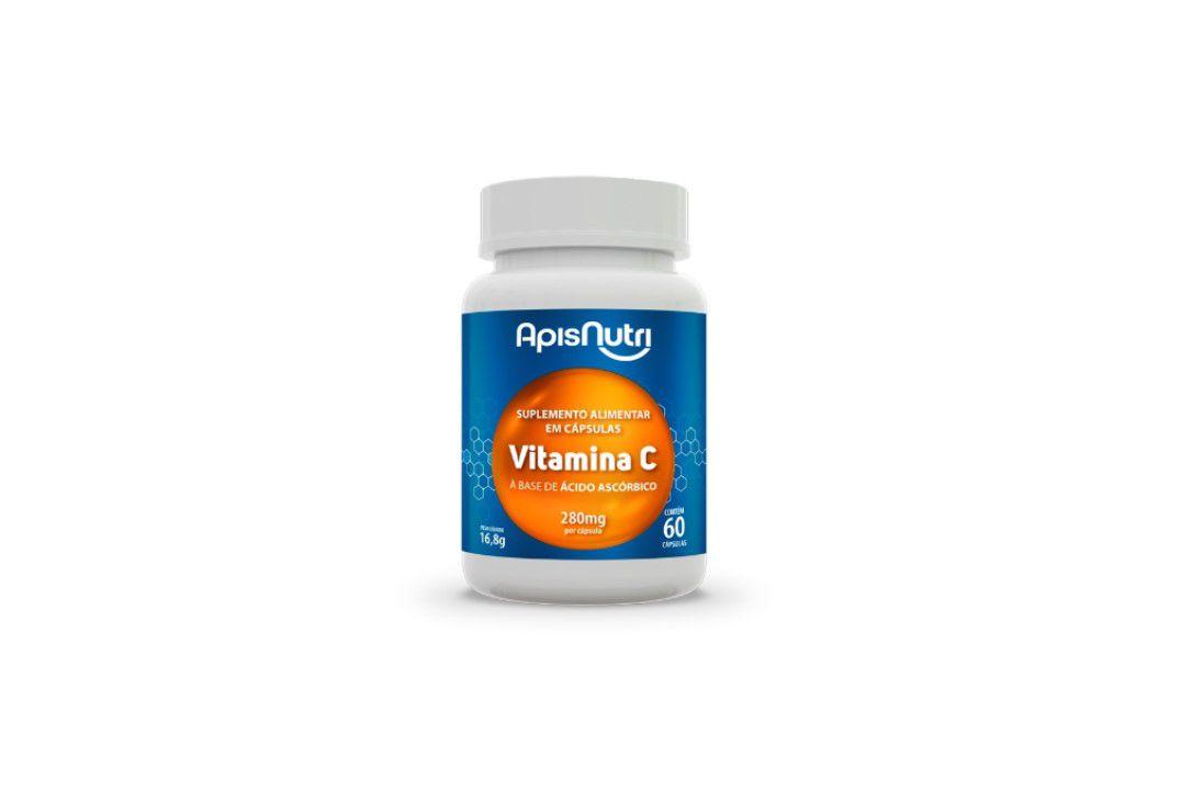Cápsulas Suplemento de Vitamina C (Acido Ascorbico)280Mg 60Caps Apisnutri  - Mundo Cerealista