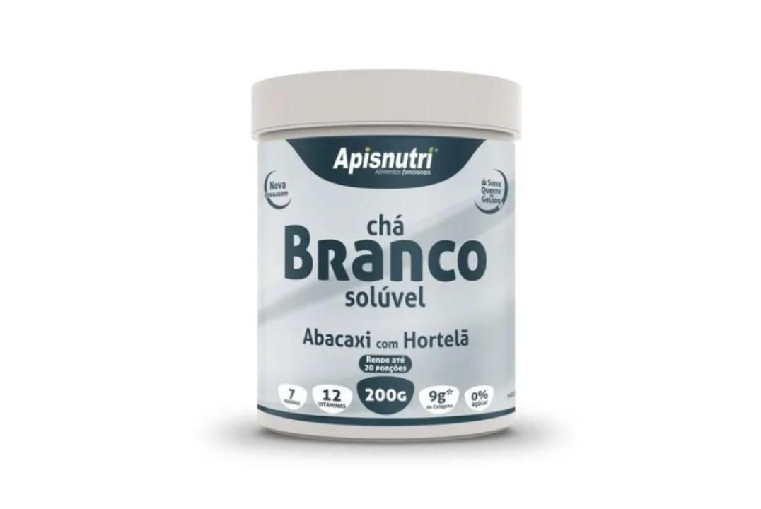 Chá Branco Solúvel Abacaxi com Hortelã 200g - Apisnutri  - Mundo Cerealista