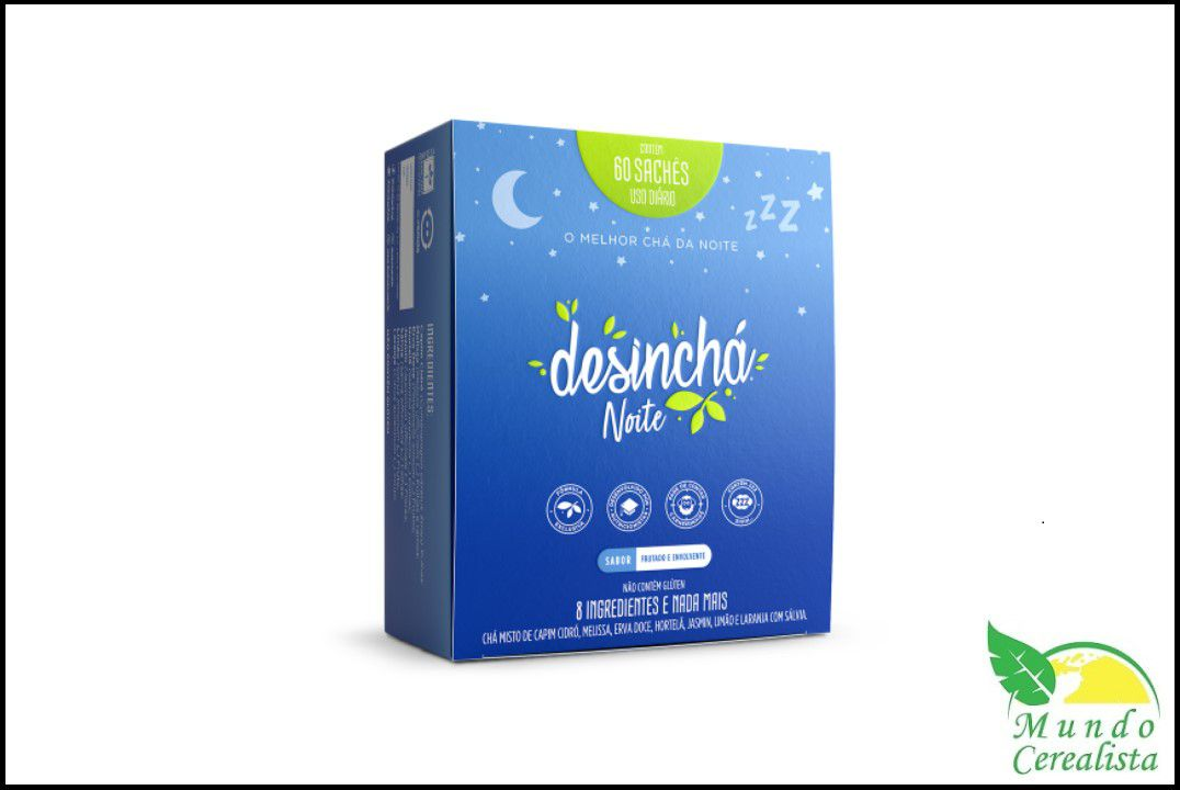 Chá DesinChá Noite - Dp 60 Saches  - Mundo Cerealista