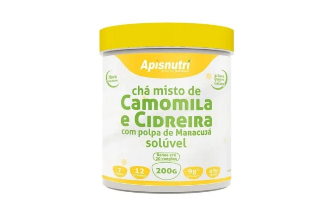 Chá misto de Camomila e Cidreira com polpa de maracujá 200g - Apisnutri  - Mundo Cerealista