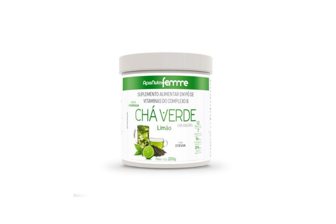Chá Verde com Limão 200 Gr Apisnutri  - Mundo Cerealista