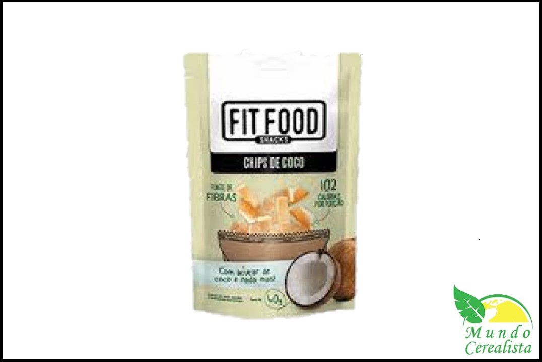 Chips de Côco Fit Food - 40 Gr  - Mundo Cerealista